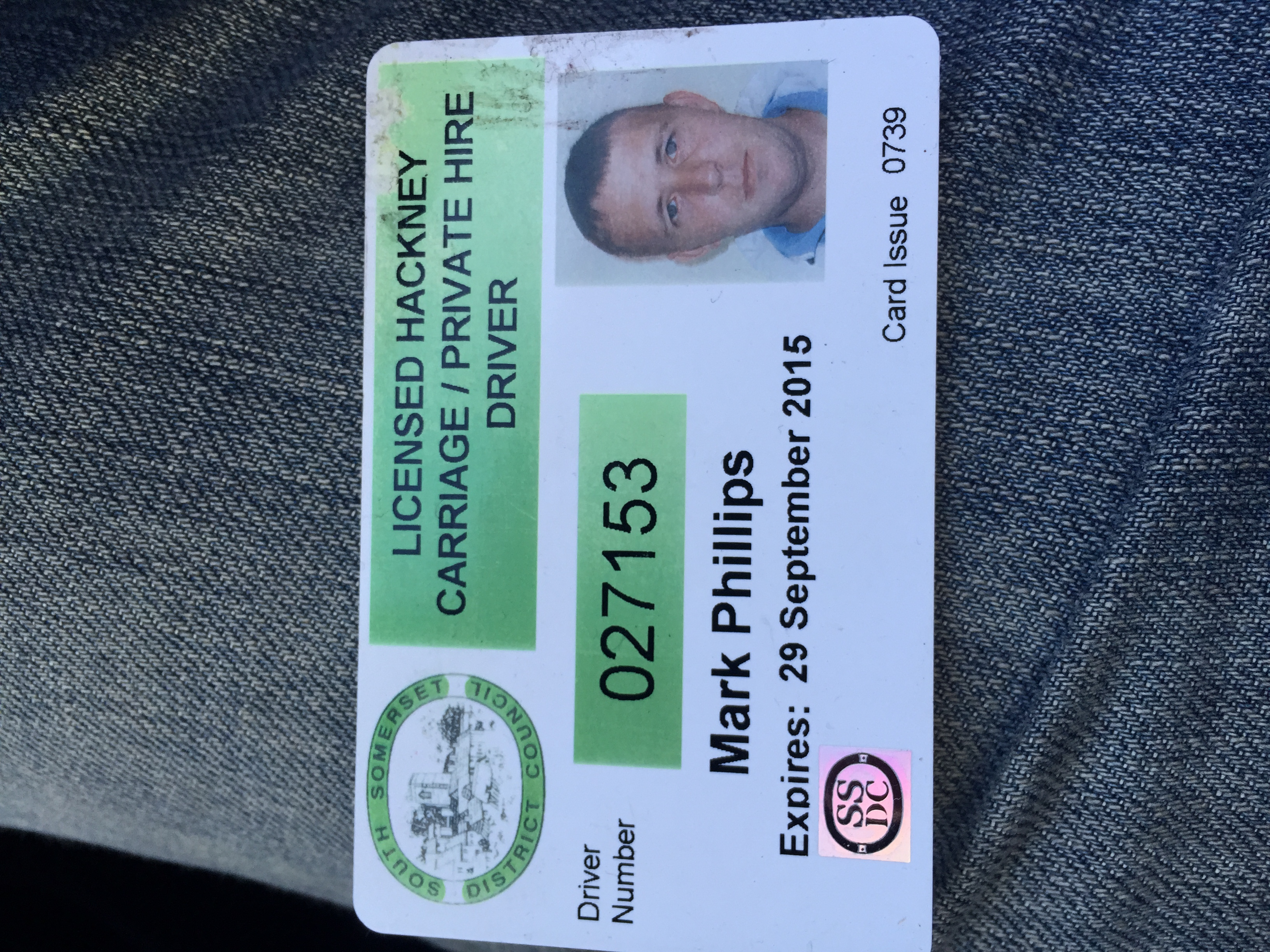 Mark Phillips transport licence