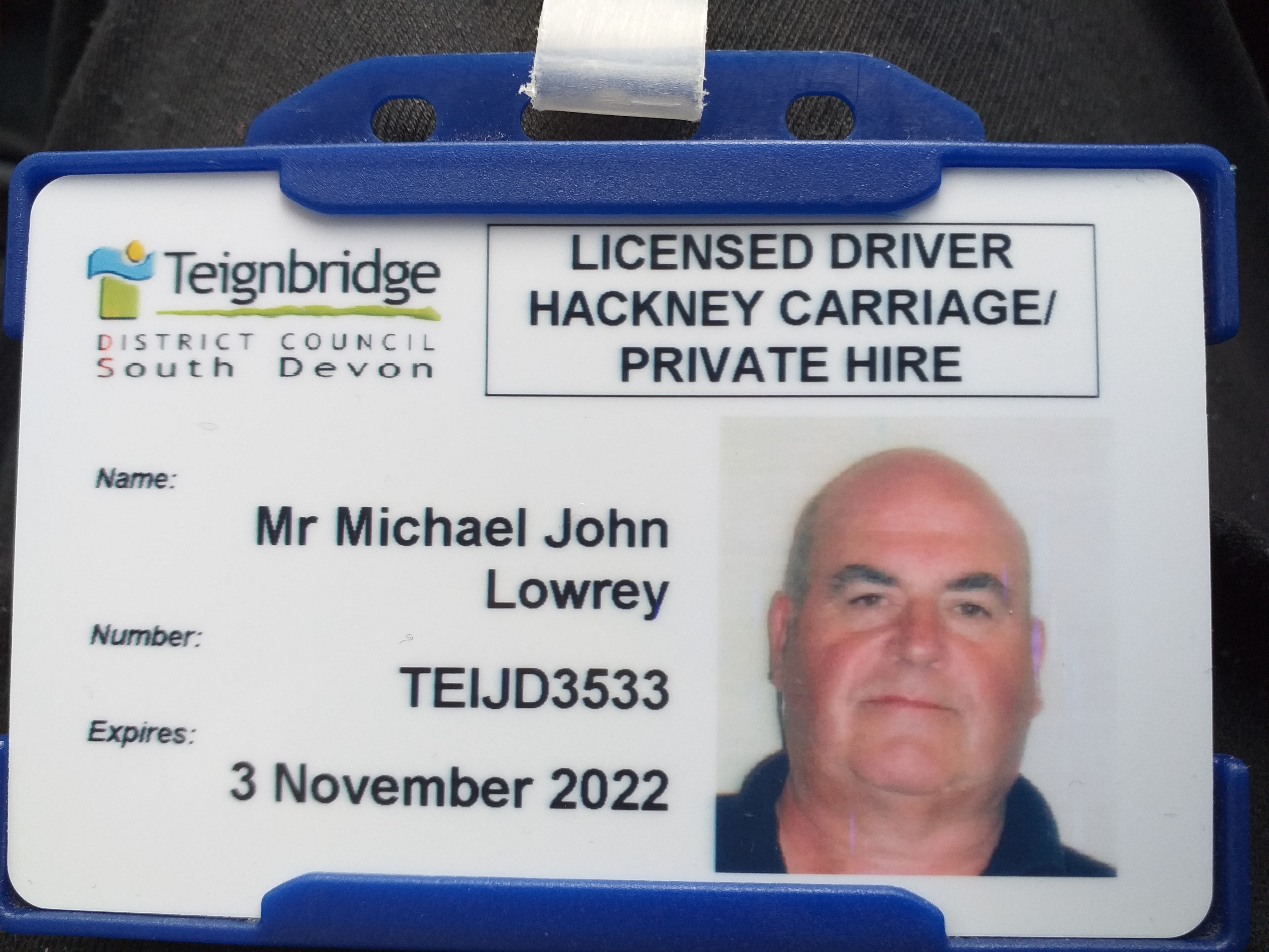 Ashburn Taxi transport licence