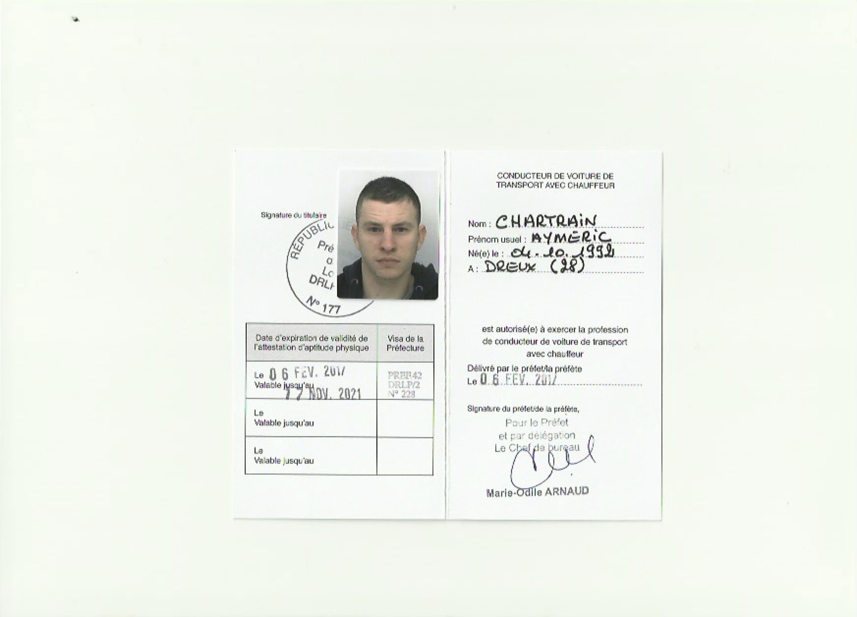 AC TRANSPORTS transport licence