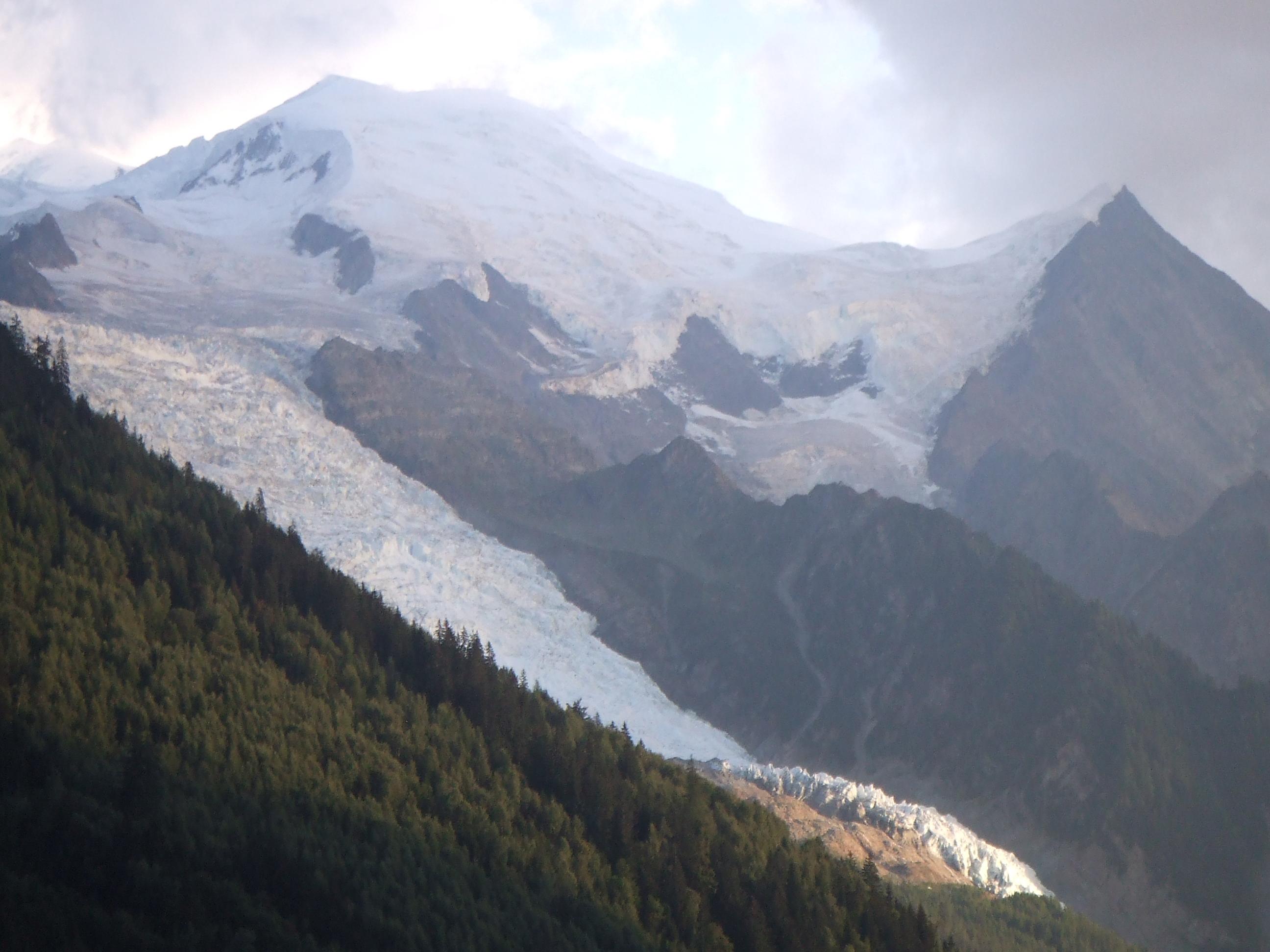Mont Blanc and Glacier des Bossons